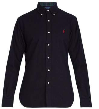 Polo Ralph Lauren Logo Embroidered Cotton Oxford Shirt - Mens - Navy