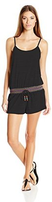 Lucky Brand Women's Love Fiesta Cover-Up Romper with Adjustable Straps $72 thestylecure.com