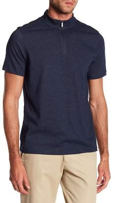 Perry Ellis Plaited Quarter Zip Polo