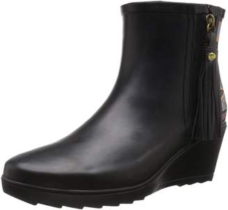 Chooka Women's Side Zip Tribal Ankle Rain Boot