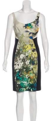 Black Halo Printed Mini Dress