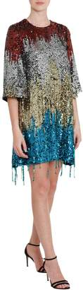 Amen A-line Mindress With Multicolo Sequins All-over