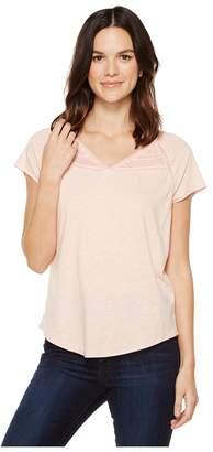 NYDJ Lace Trim Knit Top Women's Clothing