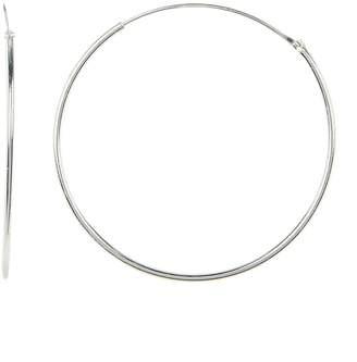 Candela Sterling Silver Endless 44mm Hoop Earrings