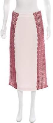 Tanya Taylor Guipure Lace Paneled Midi Skirt w/ Tags