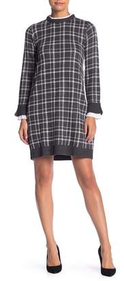 Vince Camuto Long Sleeve Layered Look Dress (Petite)