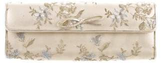 Stuart Weitzman Embroidered Floral Clutch