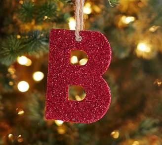 Pottery Barn German Glitter Alphabet Ornaments - Red