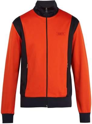 Gucci Contrast-panel zip-through sweatshirt