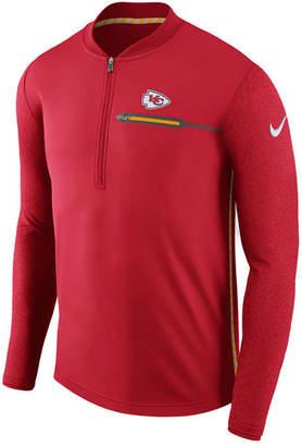 Nike Men's Kansas City Chiefs Coaches Quarter-Zip Pullover