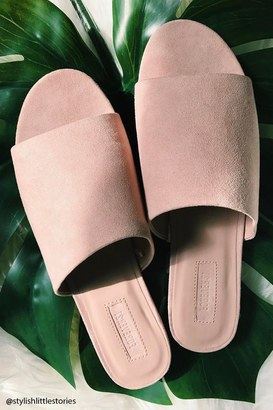 FOREVER 21+ Faux Suede Slides $17.90 thestylecure.com