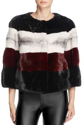 Maximilian Furs Striped Saga Mink Fur Coat - 100% Exclusive