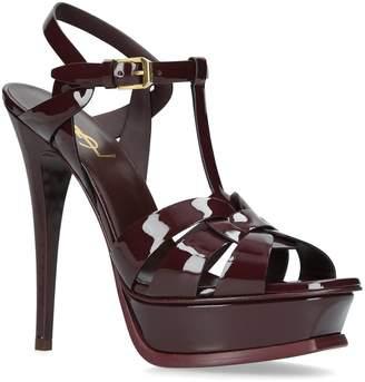 Saint Laurent Patent Tribute Sandals 135