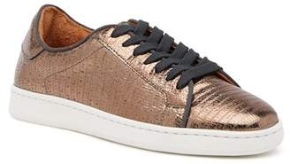 Frye Alexi Low Lace-Up Lizard Embossed Leather Sneaker
