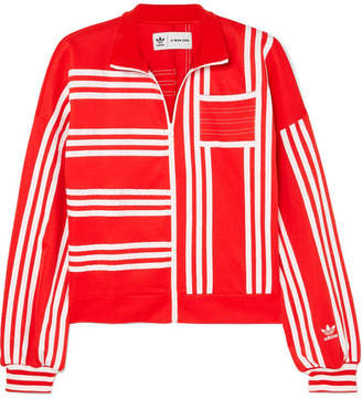 adidas Ji Won Choi Striped Cotton-blend Jersey Track Jacket - Red