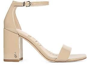 Sam Edelman Women's Daniella Ankle-Strap Patent Leather Sandals