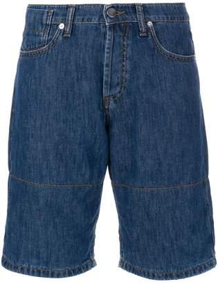 Marni denim shorts with turn up cuffs