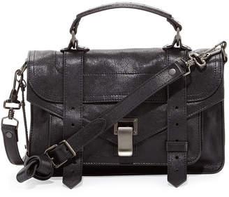 Proenza Schouler PS1 Tiny Crossbody Satchel Bag, Black