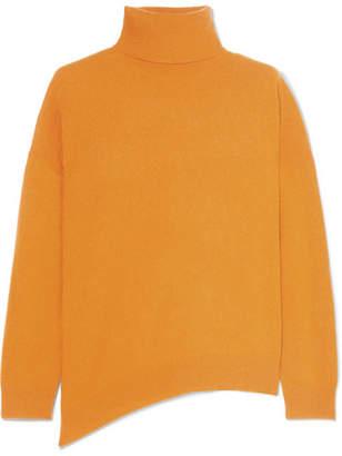 Vanessa Bruno Jamaica Asymmetric Wool And Cashmere-blend Turtleneck Sweater - Yellow