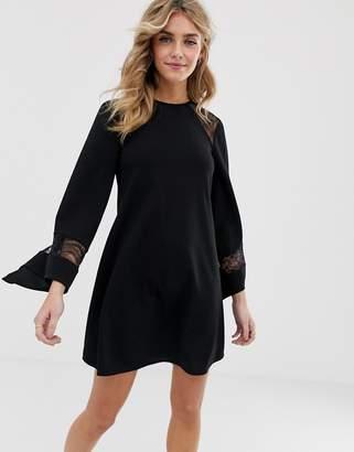 Asos Design DESIGN lace insert shift dress