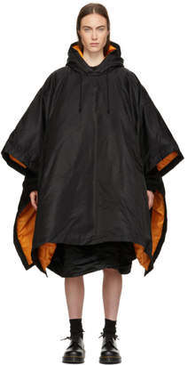 Comme des Garcons Black Down Hooded Poncho