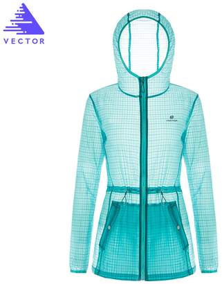 Vector Outdoor Sports Running Anti UV Quick Dry Sun Protect Hooded Jackets