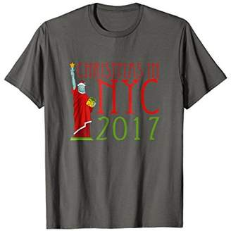 Christmas in NYC New York City 2017 T-Shirt Statue Liberty