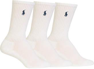 Polo Ralph Lauren Women's 3-Pk. Sport Crew Socks