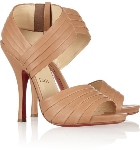 Christian Louboutin Pour Lili 120 pleated leather sandals