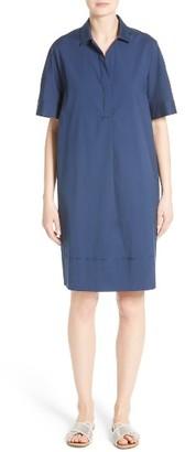 Women's Lafayette 148 New York Zamira Cotton Blend Shirtdress $398 thestylecure.com