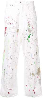 Golden Goose paint print straight-leg jeans