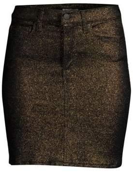 Alice + Olivia Hudson Jeans Lulu Metallic Mini Skirt
