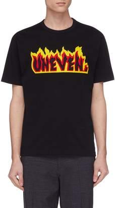 Kolor 'Uneven' appliqué T-shirt