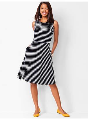 Talbots Fit & Flare Knit Dress - Stripe