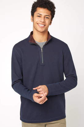 Tailor Vintage Reversible 1/4 Zip Double Sided Waffle Pull Over