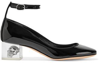 Alexander McQueen - Patent-leather Pumps - Black $890 thestylecure.com