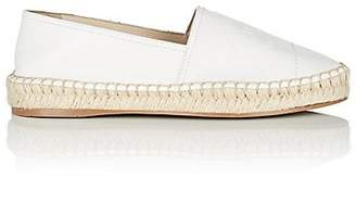 Prada Women's Logo Leather Espadrilles - Bianco