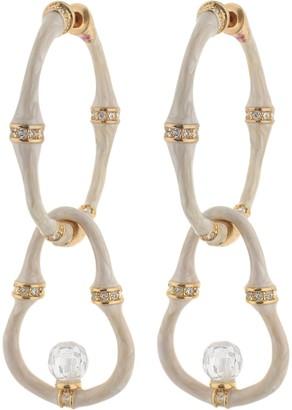 Ralph Lauren G. Adams G Adams Goldtone Colored Enamel Double Hoop Earrings