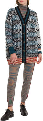 M Missoni Maxi Cardigna In Inlais Knit