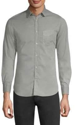 Officine Generale Pigment-Dyed Cotton Button-Down Shirt