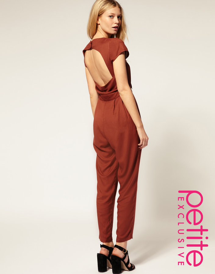 ASOS PETITE Exclusive Jumpsuit With Cut Out Back