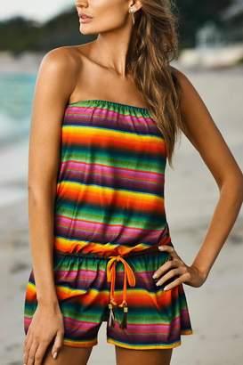 PilyQ Maya Laguna Romper $144 thestylecure.com
