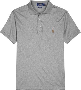 Polo Ralph Lauren Grey Slim Pima Cotton Polo Shirt