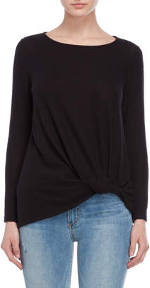Jolie Tie Accent Long Sleeve Knit Top