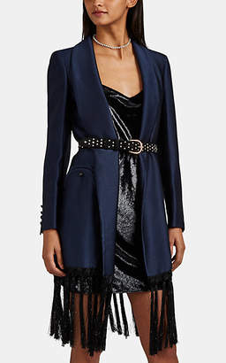 BLAZÉ MILANO Women's Hammered Satin Blazer Robe - Navy