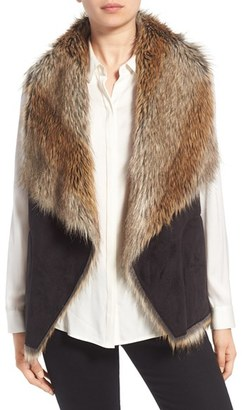 Women's Marc New York By Andrew Marc 'Sedona' Faux Shearling Drape Front Vest $198 thestylecure.com