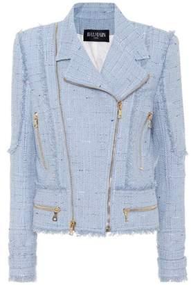 Balmain Cotton-blend tweed jacket