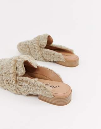 Free People faux shearling at ease loafer