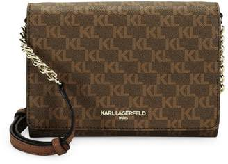 Karl Lagerfeld Paris Connie Logo Printed Crossbody Bag