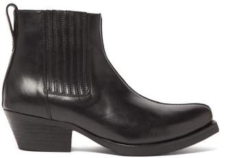 Our Legacy Cuban Heel Leather Boots - Mens - Black